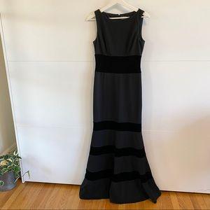 Vince Camuto Evening Gown. Black velvet elements